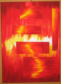 Rot, Flammen, Blitz, Gelb