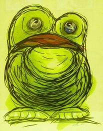 Frosch, Rot, Grün, Lippen