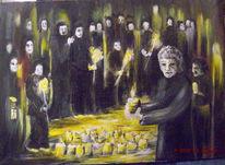 Kerzen, Mauerfall, Ansammlung, Kette