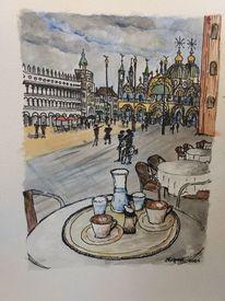 Menschen, Italien, Sehen, Markusplatz