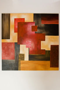 Quadrat, Abstrakt, Braun, Gelb