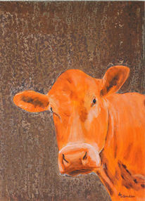 Milan art, Acrylmalerei, Kuh, Freiwerk
