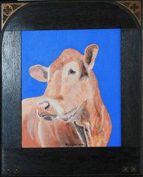 Kuh, Acrylmalerei, Gegenwartskunst, Freiwerk