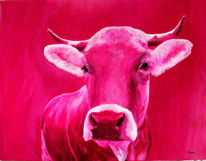 Kuhgemälde, Moderne kunst, Stier bulle, Kuh
