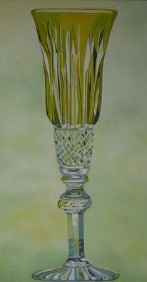Glas, Stillleben, Ölmalerei, Malerei