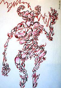 Dämon, Rot, Weiß, Teufel