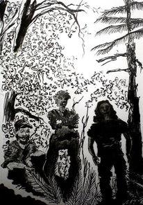 Wald, Black metal, Meditation, Menschen