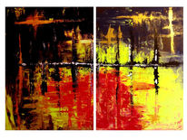Neon, Gelb, Gold, Rot schwarz