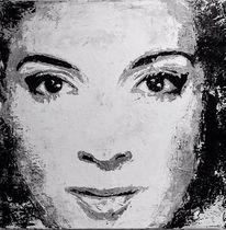 Gesicht, Portrait, Frau, Malerei