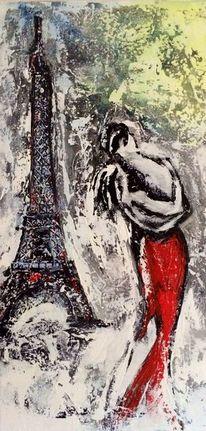 Frau, Paris, Liebe, Mann