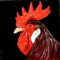 Hahn, Tiere, Malerei,