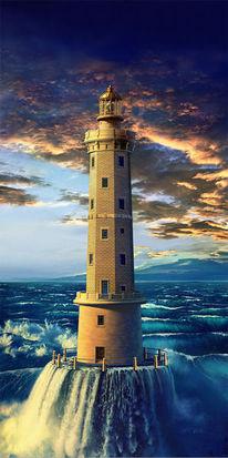 Digital, Fantasie, Leuchtturm, Fotografie