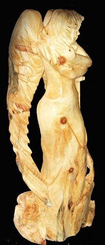 Engel skulptur holz, Plastik, Gegenständlich, Engel