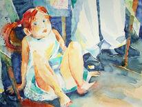 Mädchen, Malerei,