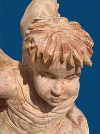 Engel provence, Kettensägenkünstler, Schnitzkunst, Plastik