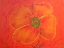 Blumen, Flora, Rot, Malerei