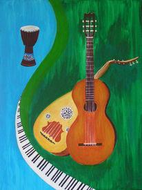 Acrylmalerei, Masarie, Malerei, Musik