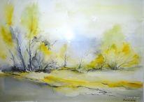 Malerei, Eifel, Aquarell