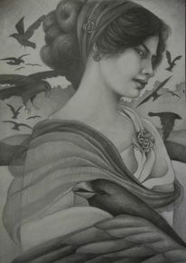 Mystik, Frau, Portrait, Religion