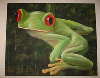 Frosch, Grün, Natur, Rotaugenlaubfrosch