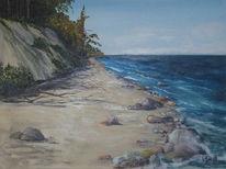 Steilküste, Strand, Umgebung, Warnemünde