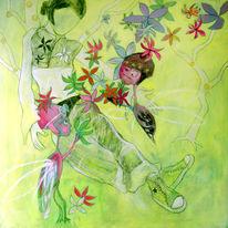 Gemälde, Liebeskummer, Farben, Illustration