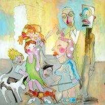 Malerei, Lachen, Comic, Expressionismus