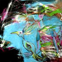 Glückwunschkarte, Zeichnung, Malen, Farben