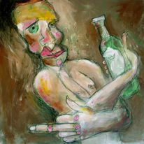 Besoffen, König, Zeichnen, Alkohol
