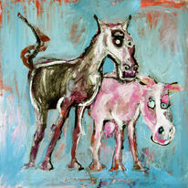 Pferde, Malen, Zeichnung, Comic