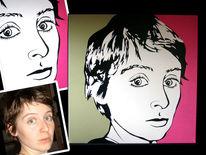 Pop art, Popart, Portrait, Malerei