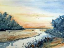 Landschaft, Ostsee, Pol, Strand