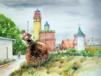 Landschaft, Rügen, Leuchtturm, Kap arkona