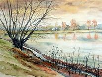 Beucha, Herbst, See, Spätherbst