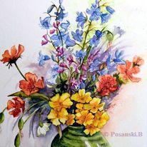 Blumen, Frühling, Aquarell