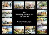 Kalender, Mitteldeutschland, Ostdeutschland, Pinnwand