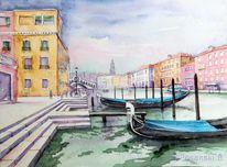 Kanal, Architektur, Kanale grande, Venedig