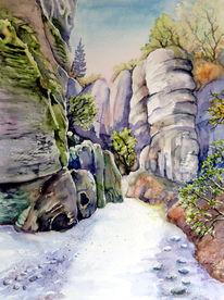 Böhmischen, Paradies, Landschaft, Wanderweg