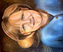 Weiblichkeit, Wahl, Angela merkel, Ölmalerei
