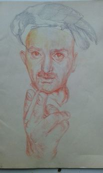 Realismus, Hand, Bleistiftzeichnung, Zeichnung