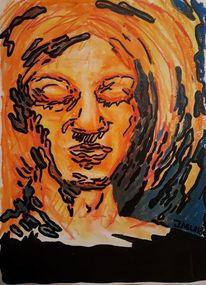 Lackstift, Gesicht, Pastellmalerei, Zeichnungen