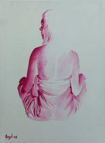 Ölmalerei, Rücken, Reiz, Rot