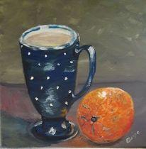 Obst, Tasse, Keramik, Orange