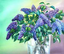 Ölmalerei, Frühling, Blüte, Glas