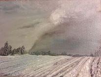 Grau, Winter, Himmel, Schnee