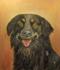 Hundeportrait, Hund, Tiermalerei, 2017