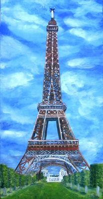 Eiffelturm, Eisen, Sommer, Reise
