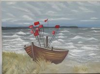Boot, Strand, Rügen, Ostsee