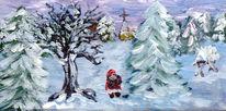Mantel, Lärchenholz, Stiefel, Weihnachten