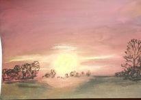 Baum, Abend, Sonne, Himmel einter